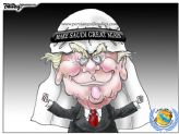 trump saudi cartoon releationship
