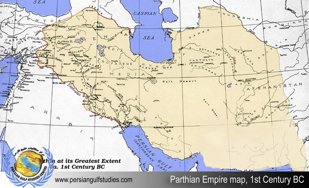 Parthian Empire Map